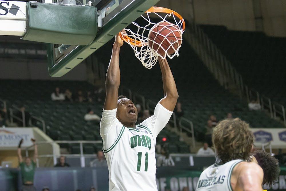 Men's Basketball: Bobcats play through pain, lose close game at Akron