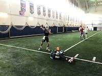 Redshirt sophomore Drew Keszei throws the ball during Ohio's practice ahead of the Famous Idaho Potato Bowl.