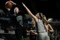 Gabby Burris puts up a shot during the second half of the Bobcats game against Walsh on Nov. 3.