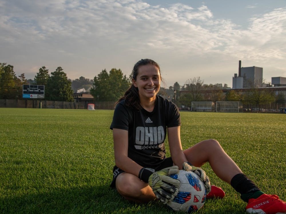 Sydney Malham, Ohio University's goalkeeper, poses for a portrait before practice on the morning of Wednesday, Oct. 2. (FILE)