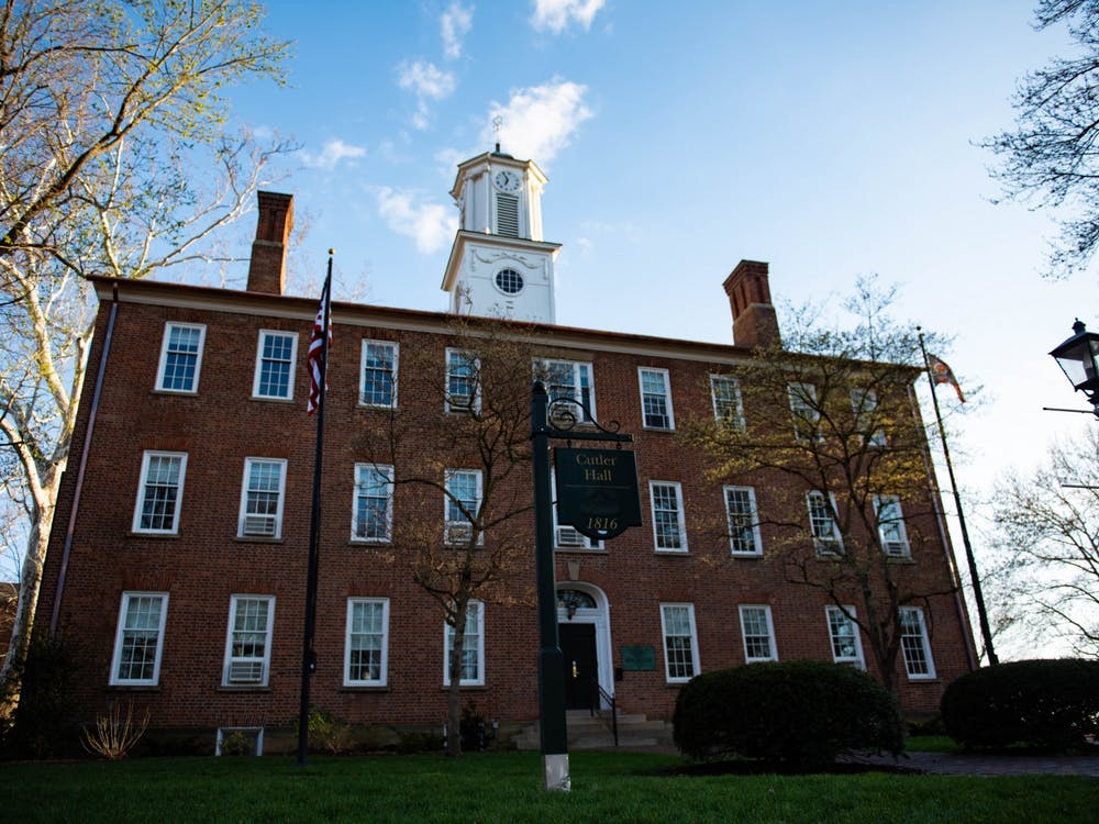 Cutler Hall on Ohio University's campus in Athens, Ohio.
