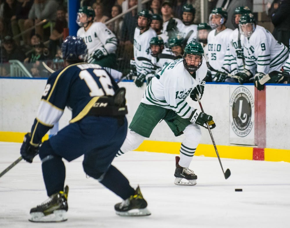 Hockey: Momentum shifts too much as Ohio suffers overtime loss