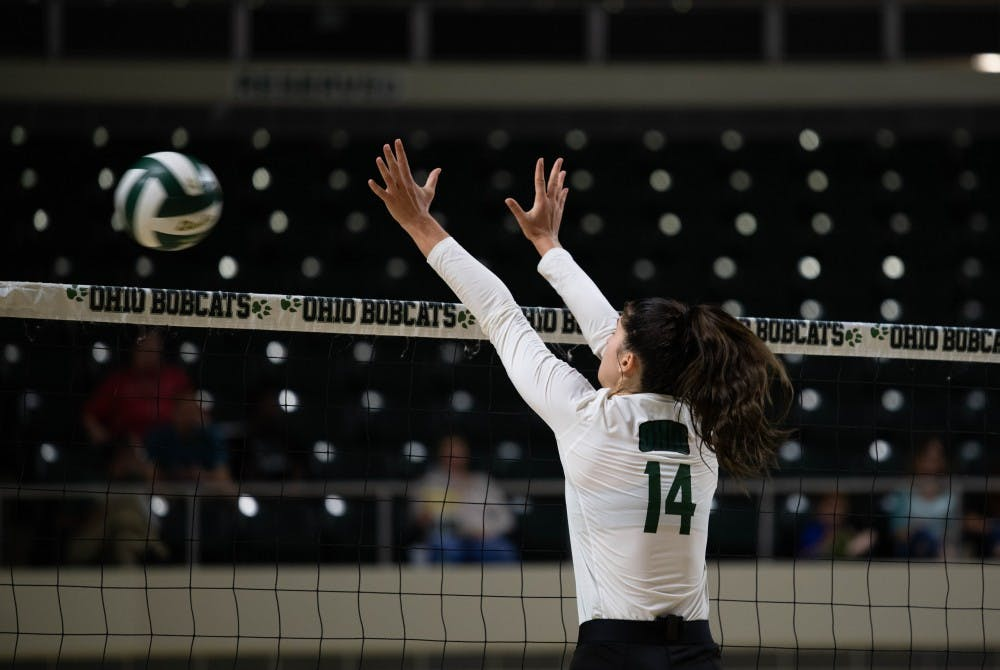 Volleyball: Ohio's offense clicks, lessens error rate in win over Eastern Michigan