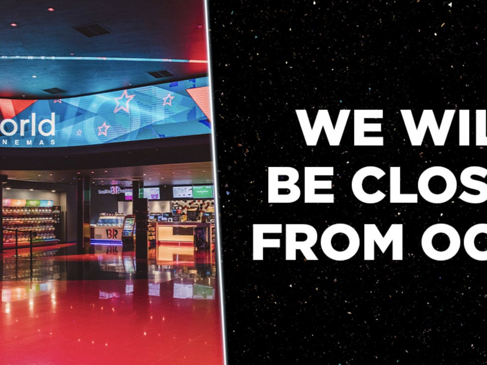 """According to Cineworld Cinemas, all theaters """"in the UK and Ireland will be temporarily closed from Friday, October 9."""" (Photo provided by @cineworld via Twitter)."""