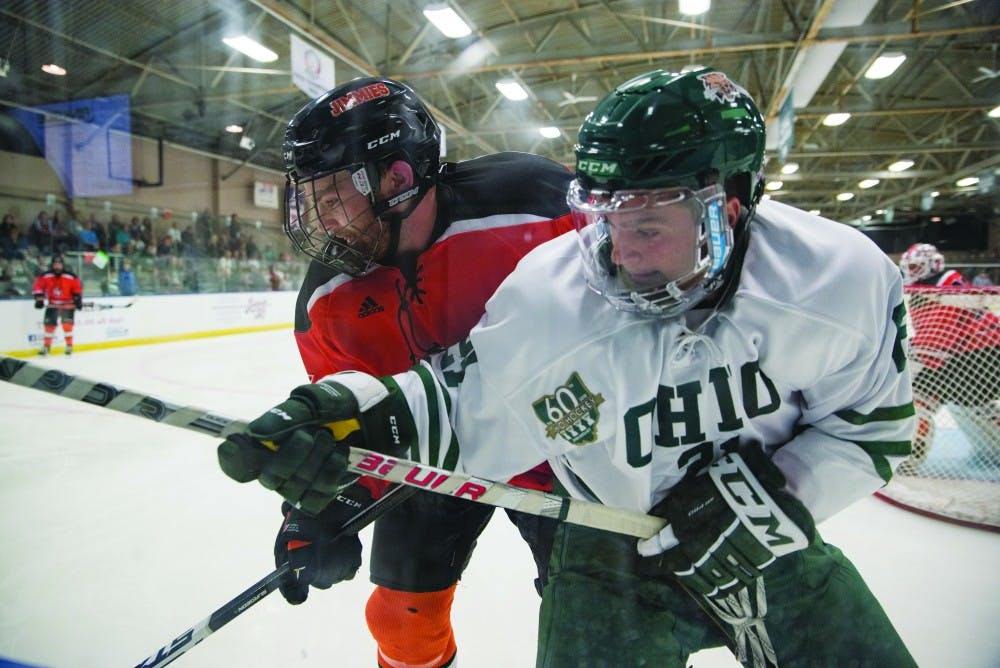 Hockey: Ohio rides emotions, physical play to fight back in weekend split against Robert Morris