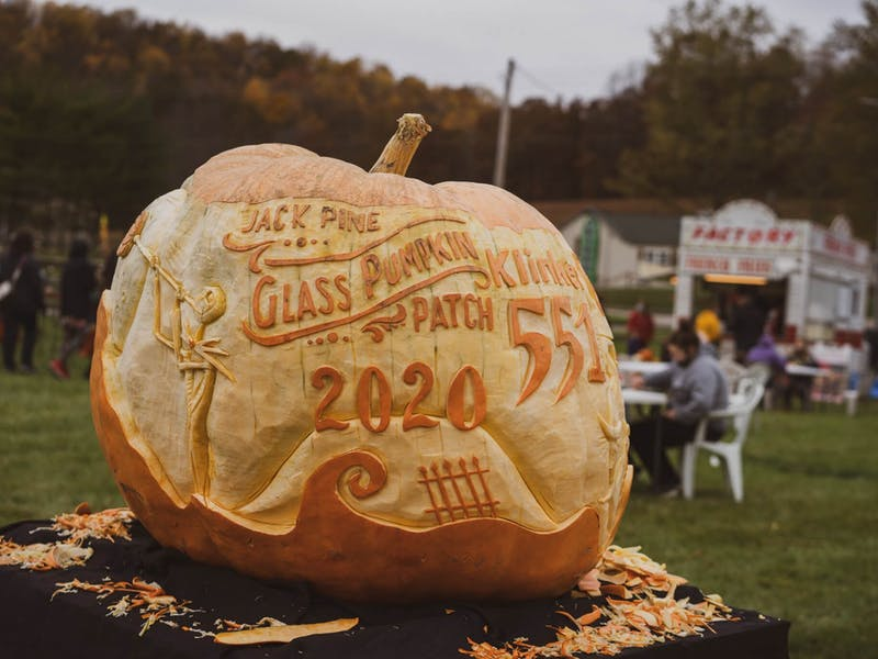 Photo provided by Jack Pine Studio's website from last year's Glass Pumpkin Festival.