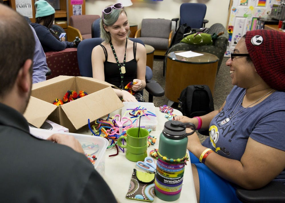 Crafternoon in Ohio University LGBT Center allows for safe space