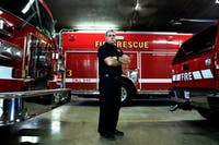 Athens Fire Department Capt. Matt Hull poses for a portrait.