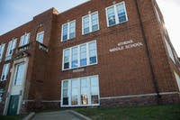 The exterior of the Athens Middle School, 51-55 W. State St. (FILE)