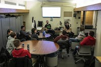 The Ohio Esports club discusses matters pertaining to the esports community at the Copeland Annex on February 25, 2019.
