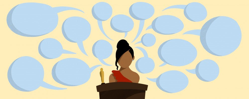 Do award show acceptance speeches provoke social change?