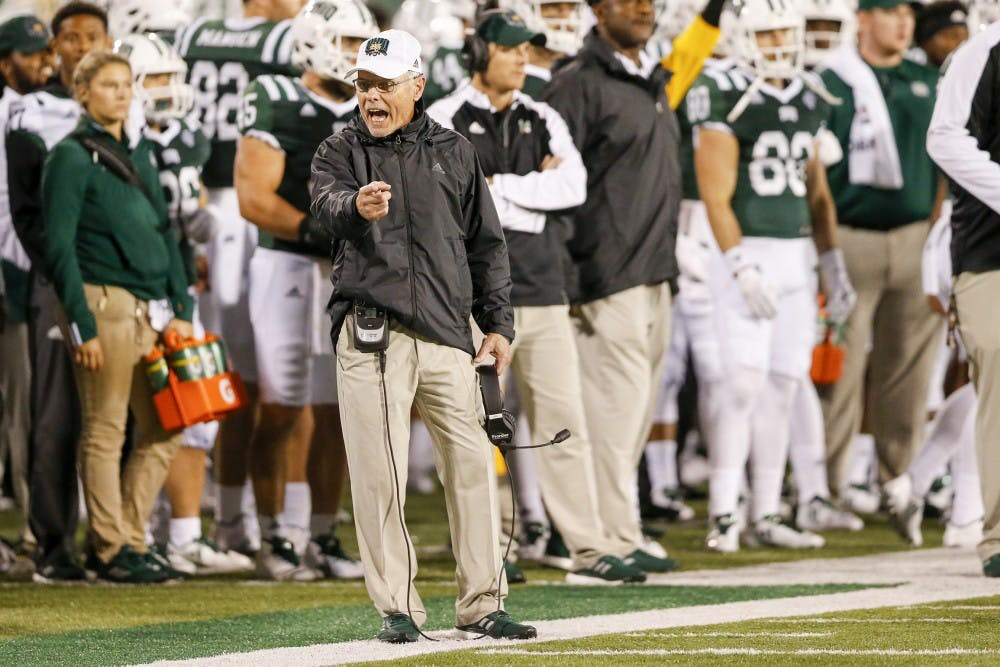 Football: Frank Solich talks Buffalo and pass offense, at Monday press conference