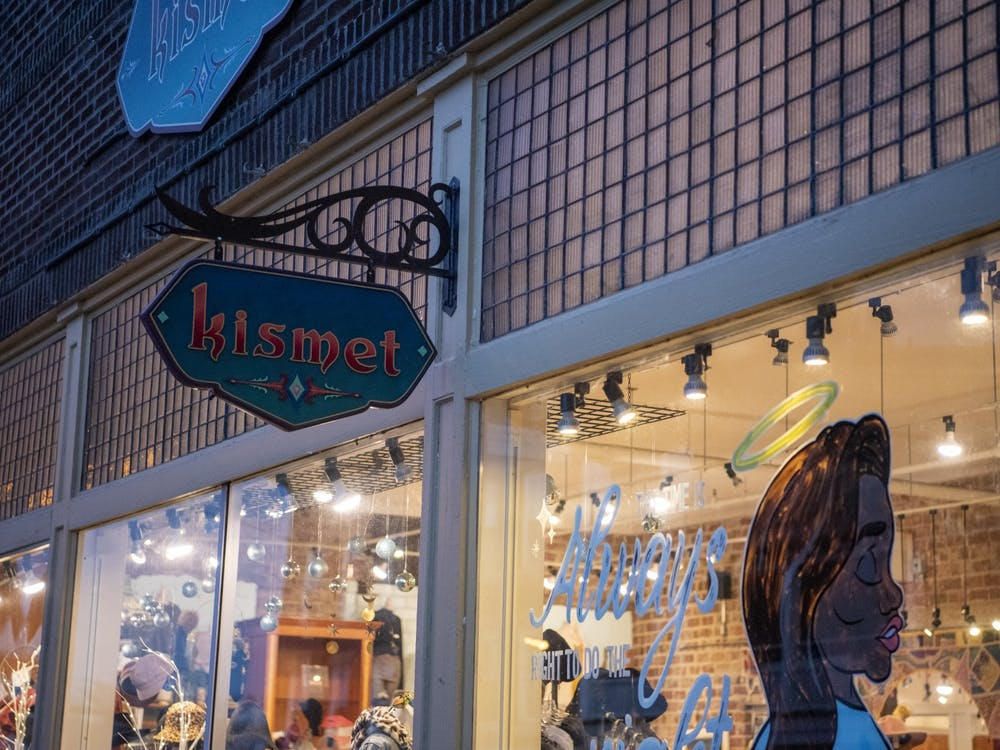 Women's boutique, Kismet, located at 19 W State St, Athens, OH.