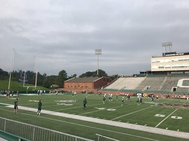 The Bobcats practicing at Peden Stadium for day 10 of fall camp.