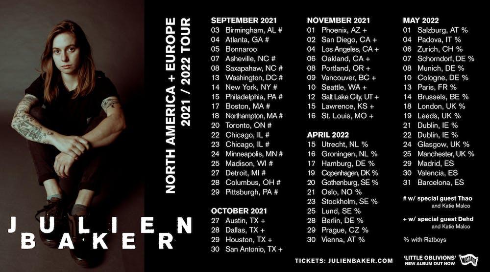 Twitter Reactions: Julien Baker announces upcoming tour dates