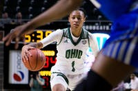 Ohio's Cierra Hooks scans the offense during the Bobcats' game against Buffalo in The Convo on Jan. 17. (FILE)