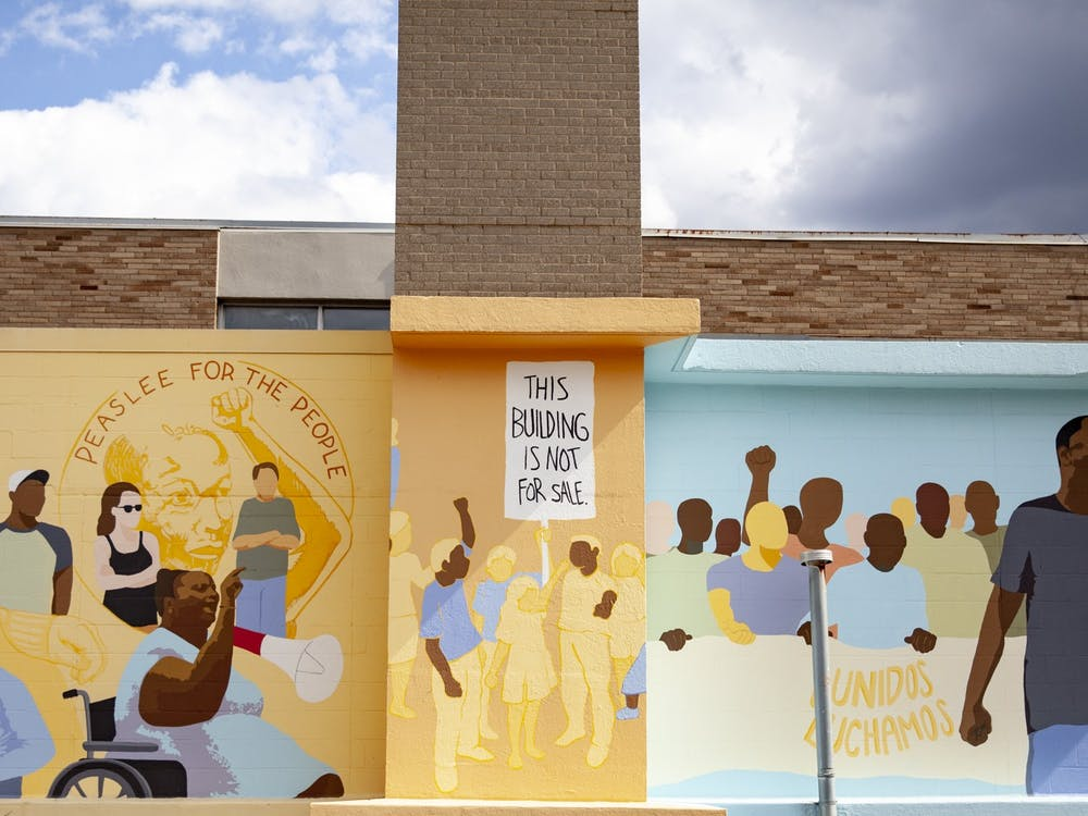 The Peaslee Community Center in Pendleton, Cincinnati, OH is the home of multiple arts and community projects, including this mural.