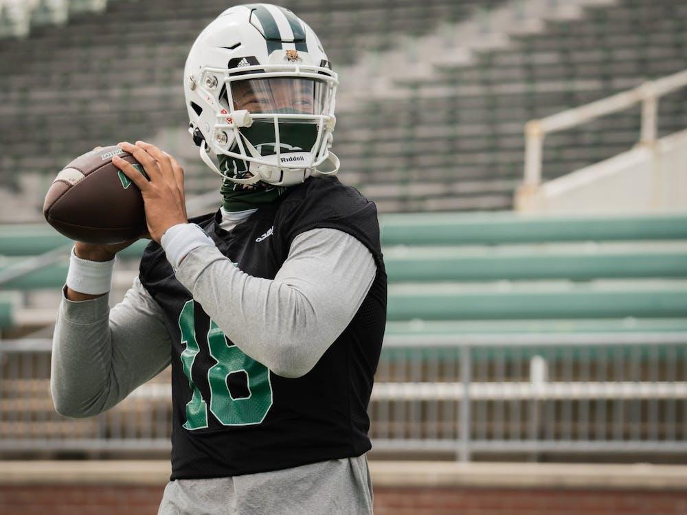 Armani Rogers (#18) is Ohio University's new QB. (Photo provided via Ohio Football Twitter)