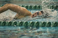 Ohio hosted the Toledo Rockets at the Ohio University aquatic center on Jan. 28, 2017 for their final home meet of the season.