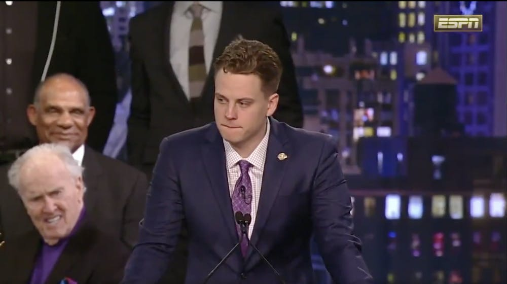 Joe Burrow's Heisman speech leads to almost $500,000 donated to food pantry