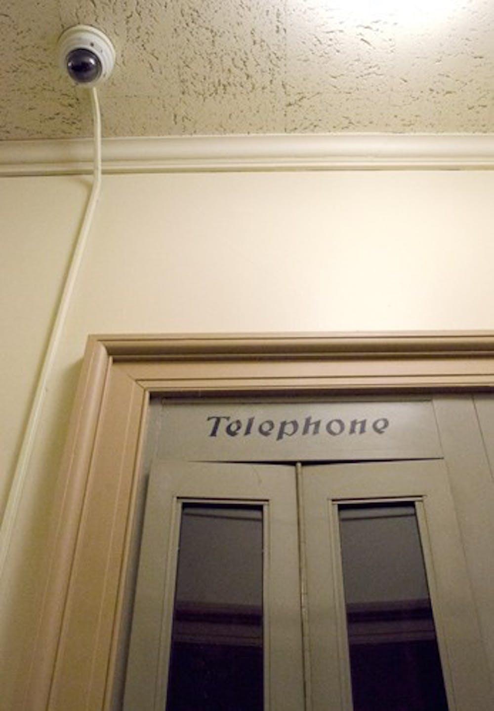 Security cameras installed in Voigt Hall