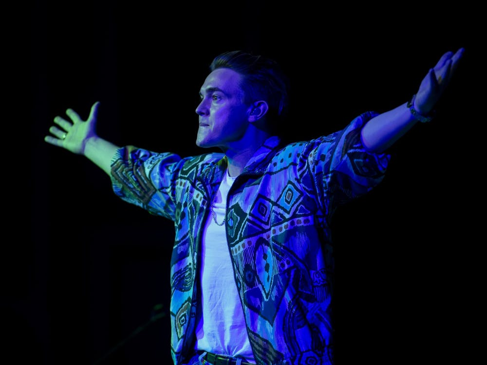 Jesse McCartney performs at the annual TBT concert at Ohio University on Thursday, March 5, 2020.