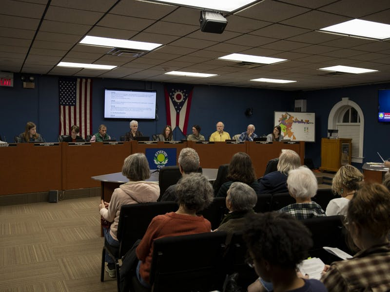 The public attends the Athens City Council meeting in Athens City Hall on Monday, February 3, 2020.