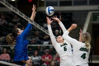 Vera Giacomazzi sets the ball during the game against Buffalo on October 28, 2017. (FILE)