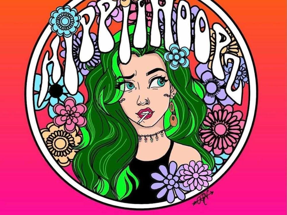 Illustration by Alyssa Denise Vandale. Image provided via Hippie Hoopz Instagram.