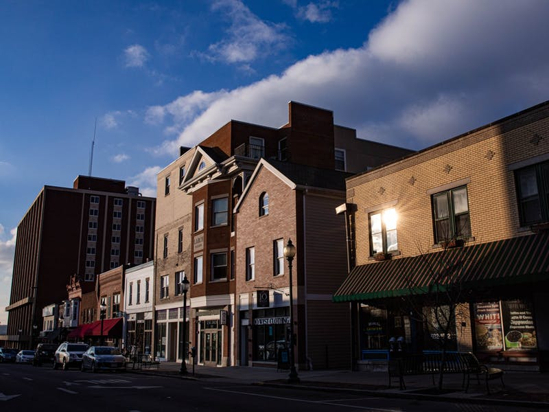 Union Street shops in uptown Athens, Ohio, on Wednesday, Jan. 20, 2021.