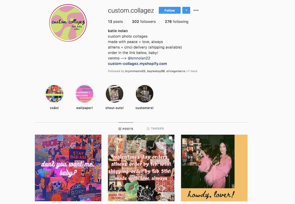 OU students run their own businesses completely through Instagram