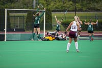 Ohio celebrates after scoring its first goal of the day during its 3-1 win over Central Michigan on Sunday.