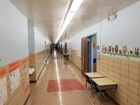 An empty hallway inside East Elementary on Oct. 10, 2018. East Elementary, like the other Athens City Schools, will be affected by Issue 3.