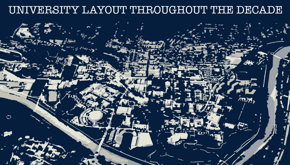 How the layout of Ohio University has changed throughout the decade