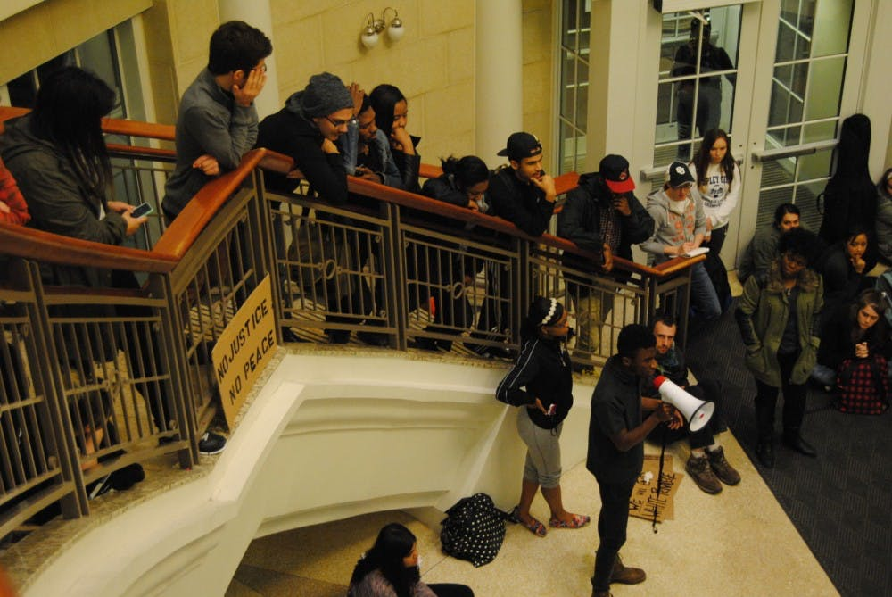 Students occupy Baker Center following latest decision in Mike Brown case