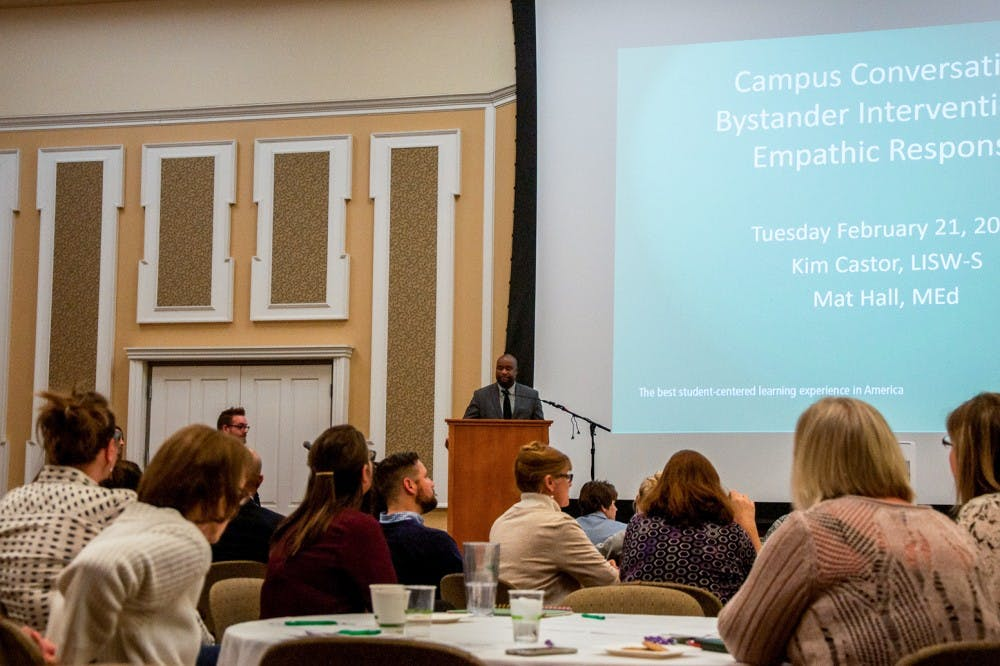 Campus Conversation covers sexual assault intervention and support