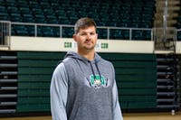 Director of Strength and Conditioning For Ohio Football and Women's Basketball Dak Notestine poses for a portrait in the Convocation Center on the morning of Wednesday, Oct. 9, 2019.