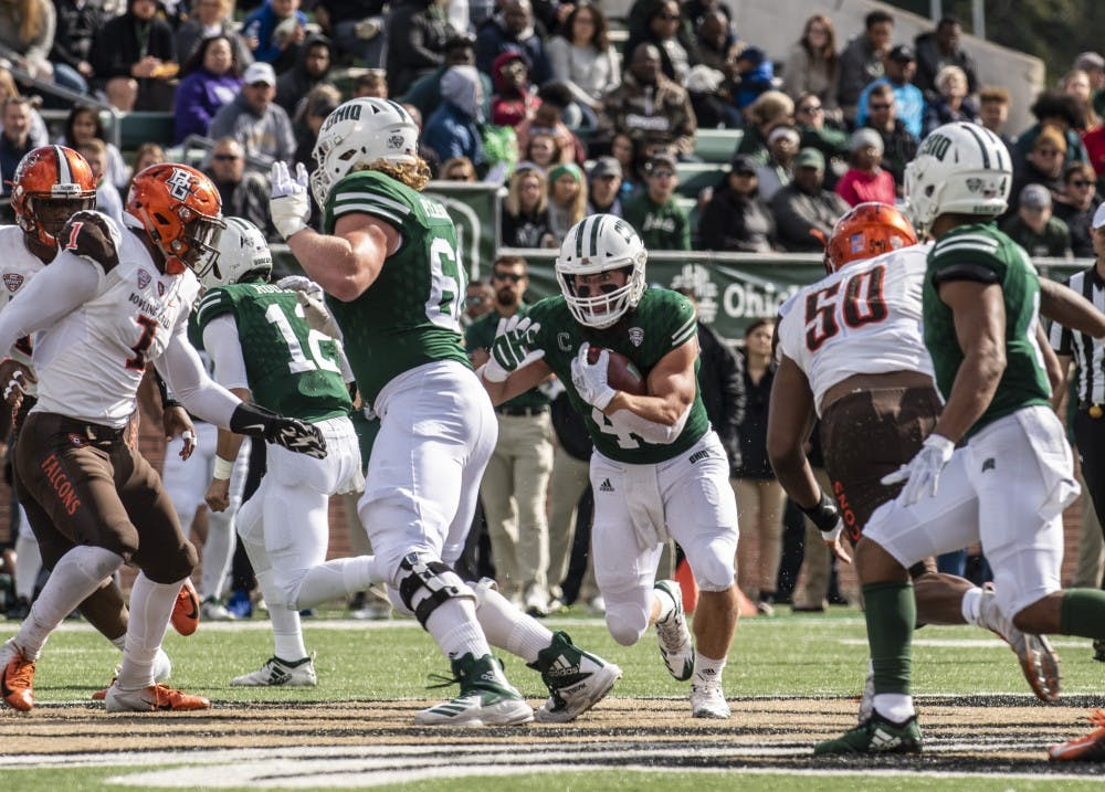 Football: Ohio plays a complete game 49-14 rout of Bowling Green