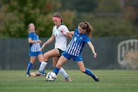 Paige Knorr fights for the ball during Ohio's game against Buffalo on Thursday. (FILE)