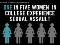One in five women in college experience sexual assault.