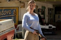 Despite a compelling performance from Betty Gilpin, Blumhouse's 'The Hunt' is one of the production company's worst films to date. (Photo provided via @DiscussingFilm on Twitter)