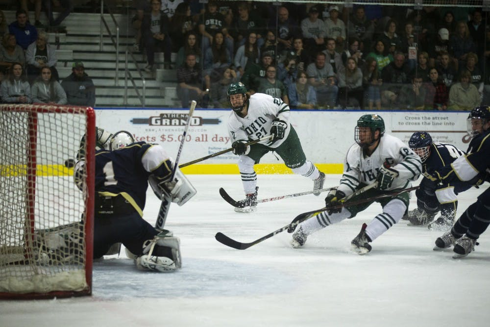 Hockey: Rudin, second period surge lift No. 5 Ohio over John Carroll
