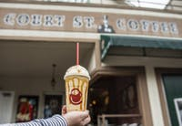 The Court Street Mocha, the signature drink of local coffee shop, Court Street Coffee.