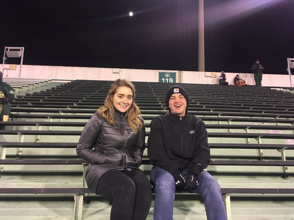 Football: Why two Ohio students decided to brave the cold for Bobcats' last home game
