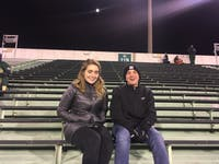 Alex Porterfield and Natasha Simons were one of only a few students to outlast the cold for Ohio's football game on Nov. 12, 2019 against Western Michigan.