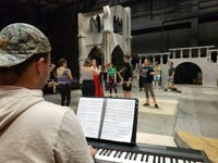 Ohio Summer Valley Theatre practicing for Love Is: A Musical Cabaret. (Provided via Devin Sudman)