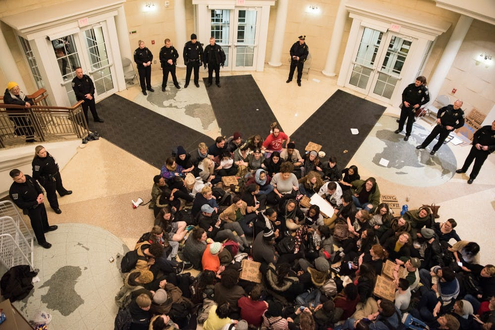 Ohio University won't pursue community standards sanctions against students arrested in Baker protest