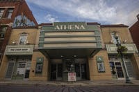 The Athena Cinema on Court Street in Athens, Ohio.