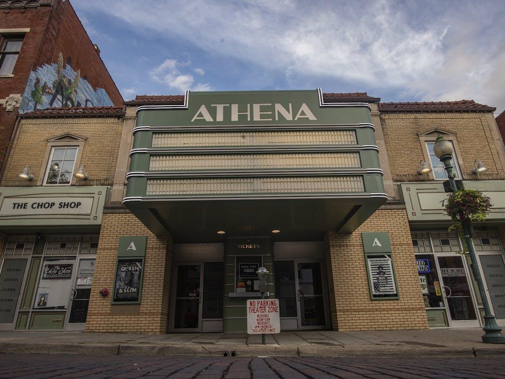 The Athena Cinema on Court Street in Athens, Ohio.