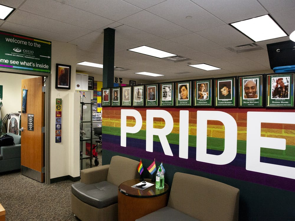 The PRIDE wall inside the LGBT Center on Monday, March 2, 2020.